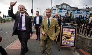 Nigel Farage and Douglas Carswell in Clacton for the 2014 byelection