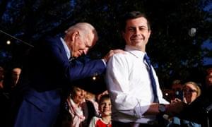 Pete Buttigieg endorses Joe Biden at Chicken Scratch in Dallas, Texas, US, March 2, 2020.