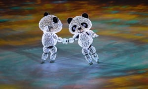 China's illuminated inline skating pandas were something to see