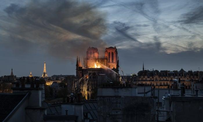 Notre Dame fire: Macron pledges to rebuild devastated Paris