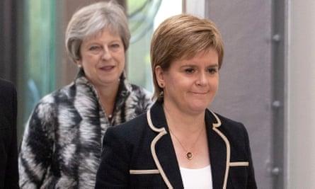 Theresa May and Nicola Sturgeon in Edinburgh