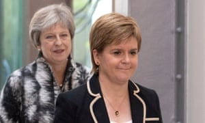 Theresa May and Scotland's first minister, Nicola Sturgeon.