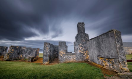 Ruins of the Constable's Quarters in Kingston and Arthur's Vale Historic Area, Norfolk Island.