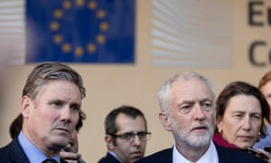 Keir Starmer with Labour leader Jeremy Corbyn.