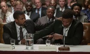 'Dialled-down': Michael B Jordan, left, and Jamie Foxx in Destin Daniel Cretton's Just Mercy.