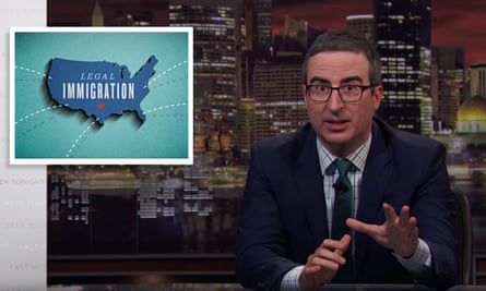 """John Oliver on America's system of legal immigration: """"I am biased here. I have been through this system and I can tell you: it's rough."""""""