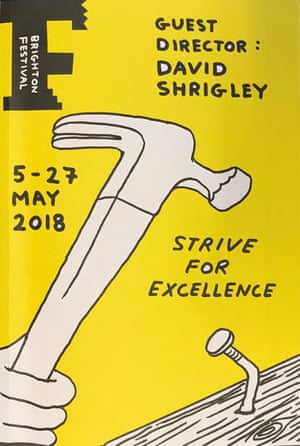 The Brighton Festival brochure by David Shrigley their guest director for 2018