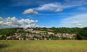 The village of Biggin Hill, Bromley, Kent, UK