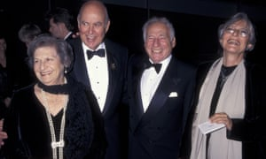 Carl Reiner and his wife Estelle, with Mel Brooks and Anne Bancroft in 1997.