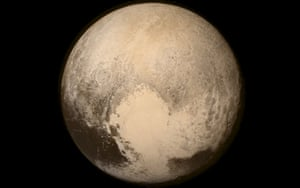 Pluto as seen from the Long Range Reconnaissance Imager (LORRI)