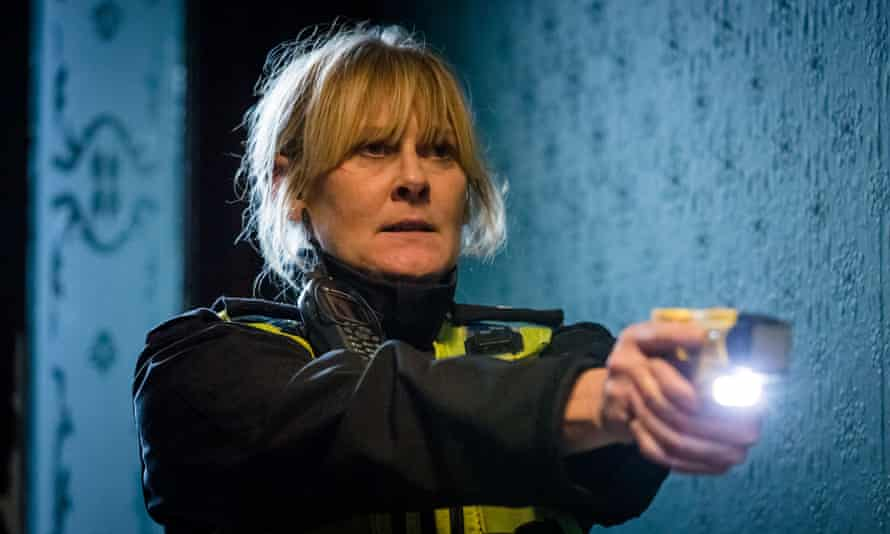 Sarah Lancashire as Catherine Cawood in Happy Valley, winner of best drama series.