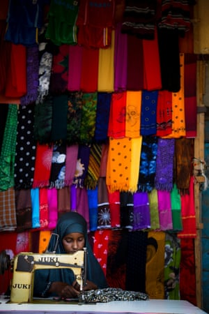 Shukri, an 18-year-old seamstress, is now running her own business in Puntland, Somalia