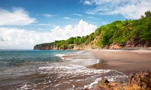 Woodlands beach in Montserrat, near where the petroglyphs were discovered.