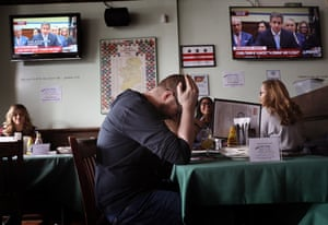 A bar in Washington DC held a viewing party on Wednesday.