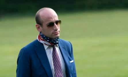 Stephen Miller at the White House in July.