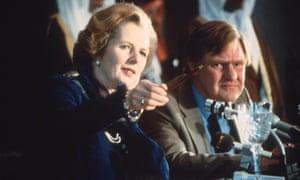 Margaret Thatcher and Bernard Ingham in 1986