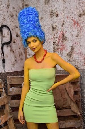 2015 Emily Ratajkowski as Marge Simpson