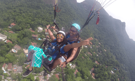 Jay Abdullahi paragliding in South Africa