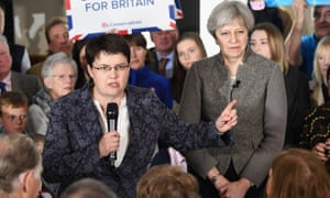 Ruth Davidson and Theresa May at a campaign rally in Aberdeenshire last week.