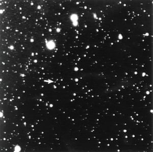 Photograph of the discovery of Pluto from 23 January 1930, taken by Clyde Tombaugh.