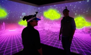 Participants try out the Alien Aptitude Test at Electronic Theatre's first venue in Southwark, London