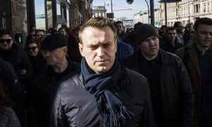 Opposition politician Alexei Navalny at the rally on 26 March in Moscow