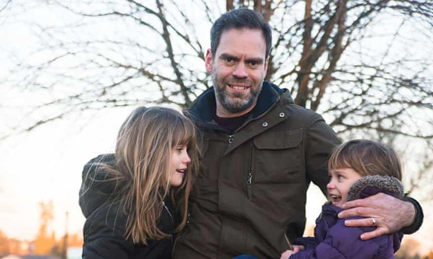 John Adams with his daughters Helen and Izzy.