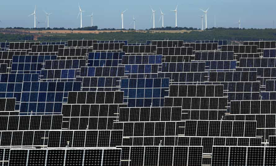 El Bonillo solar plant in Albacete, Spain