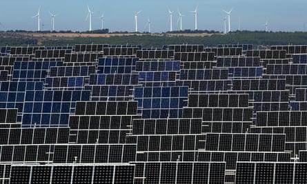 El Bonillo solar plant in Albacete, Spain