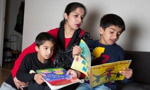 Ayesha Azazwith her sons Arham and Ehsan