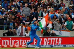 Bhuvneshwar is waiting to take the catch.