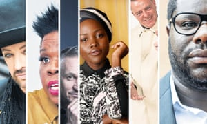 Boy George, Leslie Jones, Gary Lineker, Lupita Nyong'o, Suggs and Steve McQueen.