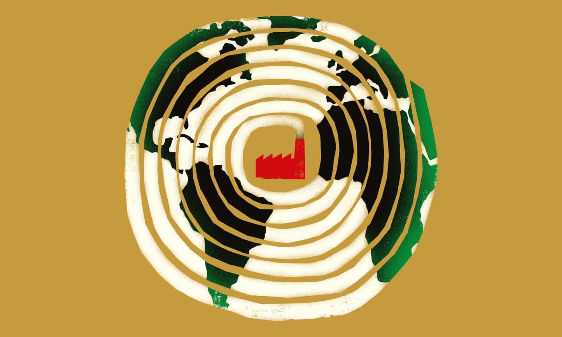 A record number of companies are making climate pledges, but experts say action remains far too slow. Illustration: The Project Twins/The Guardian