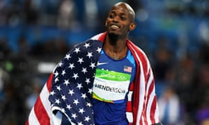 Jeff Henderson won with a jump of 8.38m.