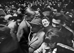 A crush of commuters at Charing Cross