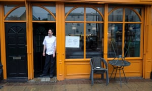 Cafe owner Anthony Zausmer in Wallasey, the constituency of Labour MP Angela Eagle.