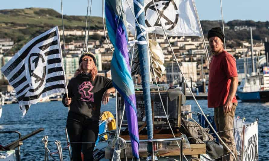 Sophie Miller and Rob Higgs of the eco protest group Ocean Rebellion