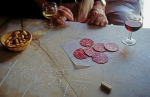 Eating tapas, Casa Manteca Tavern, Cadiz, Andalucia, Spain