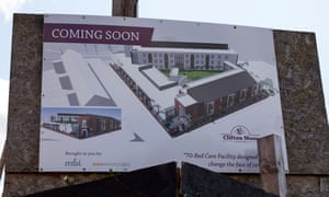 The site of the proposed Clifton Moor care home in Tyldesley, Greater Manchester