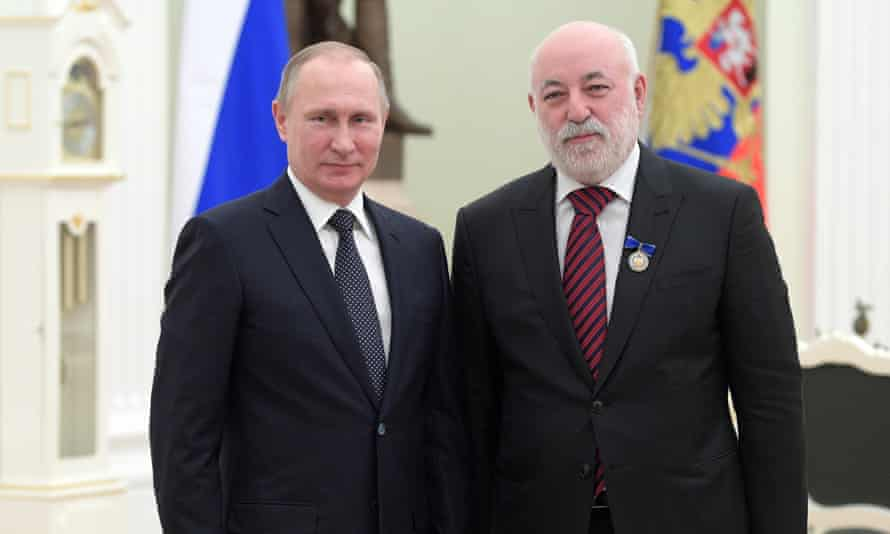 Viktor Vekselberg, shown in 2017 with Vladimir Putin, is one of Russia's richest men. Columbus Nova is the US affiliate of Renova Group, a Moscow-based company owned by Vekselberg.