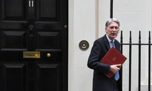 Chancellor Philip Hammond leaving 11 Downing Street.