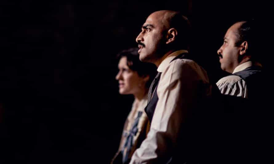 Phoebe Pryce as Adele, Tibu Fortes as Hamidullah and Asif Khan as Aziz in A Passage to India.
