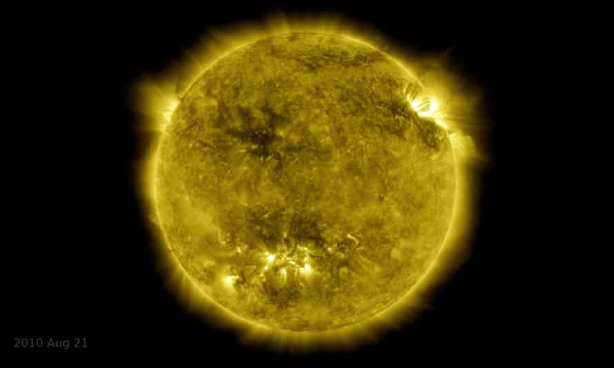 A shot from Nasa's video, which shows the major changes the sun undergoes during a solar cycle, an approximately 11-year period which sees the sun's north and south poles flip