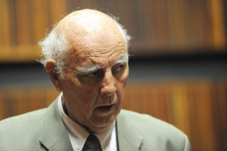 The tennis coach Bob Hewitt in court in 2015