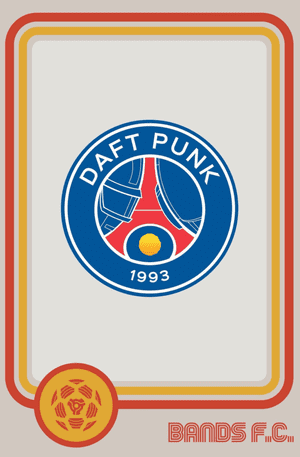 Daft Punk were so impressed with their badge that they asked for a print