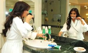 Kim Kardashian being filmed for Keeping Up with the Kardashians.