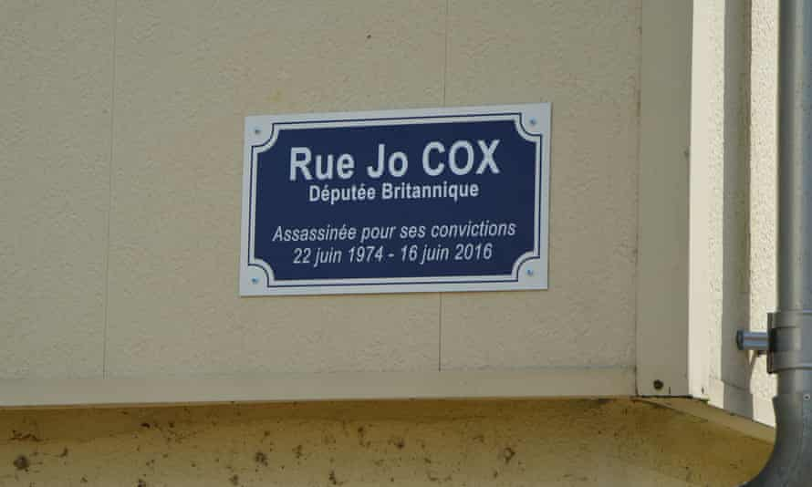 Rue Jo Cox, in the Morlande district of Avallon, France.