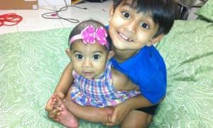 Zahra and Yusuf Shikder at home in Florida
