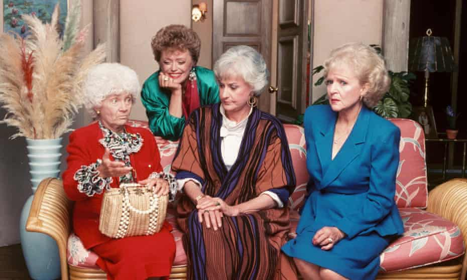 Estelle Getty, Rue McClanahan, Bea Arthur and Betty White in The Golden Girls