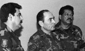 Col Rene Emilio Ponce, Rafael Humberto Larios and Col Inocente Orlando Montano
